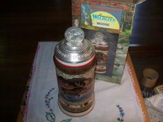 Budweiser American Wildlife Series Moose Stein with box and coa