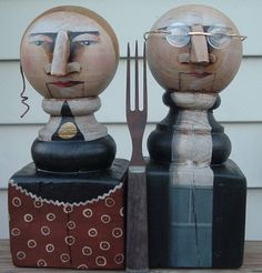 American Gothic wood finials available on Etsy...just click!