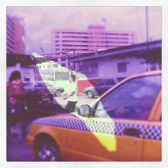 Snapped this photo of a cab while riding a cab in Panama City.