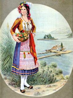 Greek Traditional Dress, Traditional Outfits, Folk Costume, Girl Costumes, Greek Costumes, Mykonos, Greek Dancing, Contemporary Decorative Art, The World Race
