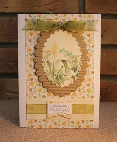 Card using Meadow Kit, by Sue Smith for Craftwork Cards.