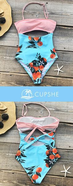 Love the colors and printings too! Colorful things always remind of a nice, clear sky and the clean, blue seawater! You won't regret taking a look at Cupshe Orange Turned Red Print One-piece Swimsuit and prepare one for you coming beach trip! Adorable & Affordable.