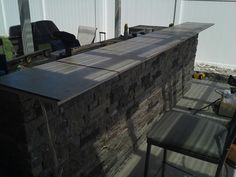 Bar top ready to be laid