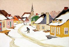 Henri de Taillon Illustration from Maria Chapdelaine by Clarence Gagnon Canadian Painters, Canadian Artists, Clarence Gagnon, Artist Art, Art Work, Watercolour, Illustration, Houses, Paintings