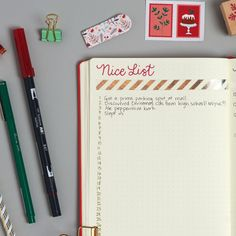 Write down all the little things you're loving during the holiday season.
