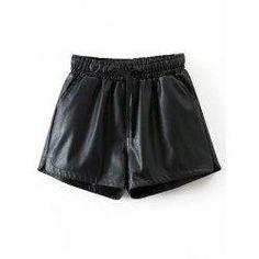 trendsgal.com - Trendsgal PU Shorts - AdoreWe.com