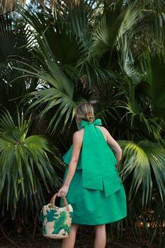 Blair Eadie Bow Dress Palm Bag
