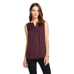 Women's Pintuck Blouse - Merona™