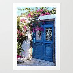 Santorini Doors Art Print by Brian Raggatt    - $17.68