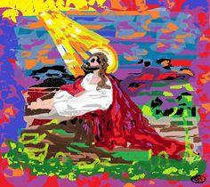 Digital Painting # 33 Jesus