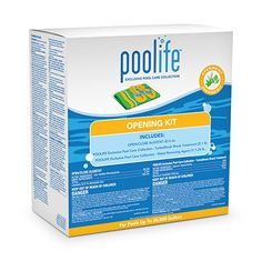 poolife® Opening Kit/Closing Kit The poolife® Opening Kit/Closing Kit includes Open/Close Algistat, poolife® TurboShock® shock treatment and poolife® Metal Removing Agent. For pools up to 20,000 gallons.