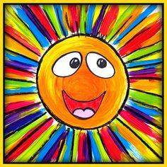 Art Project for Preschool up to Grade Ray of Sunshine - Art Lesson Plan Kindergarten Art Projects, Classroom Art Projects, Art Classroom, Square One Art, Art Soleil, Kindergarden Art, Classe D'art, Diy Projects For Men, Sun Art