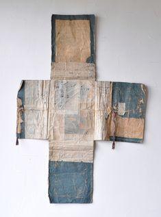 Tatoshi – Japanese wrapping boro paper for kimono 19c  | TATOSHI (TATOGAMI) – t a t a m i