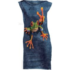 The Mountain Victory Frog Mint Dress Cool Tee Shirts, Frog T Shirts, Graphic Tee Shirts, Funny Tshirts, Mint Dress, Mini Shirt Dress, Animal Faces, Amphibians, Animals And Pets