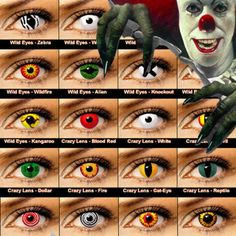 Details about CRAZY Coloured Contact Lenses Kontaktlinsen color contacts lens color halloween Black Contact Lenses, Coloured Contact Lenses, Naruto Contact Lenses, Halloween Contacts, Halloween Eyes, Halloween Makeup, Halloween Party, Halloween Costumes, Eye Color Chart