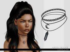 Aurora Necklace  Found in TSR Category 'Sims 3 Necklaces'