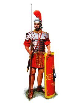 Легионер Legio II Augusta, конец I - начало II веков н.э.