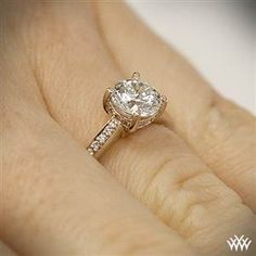 Ritani Classic 4 Prong Diamond Engagement Ring