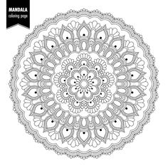 mandalas para imprimir Pattern Coloring Pages, Free Adult Coloring Pages, Mandala Coloring Pages, Colouring Pages, Coloring Books, Mandala Doodle, Mandala Art Lesson, Mandala Drawing, Doodle Patterns