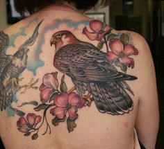What does falcon tattoo mean? We have falcon tattoo ideas, designs, symbolism and we explain the meaning behind the tattoo. R2d2 Tattoo, War Tattoo, Small Falcon, Falcon Tattoo, Animal Tattoos, Ideas, Thoughts