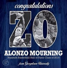 Congrats to Georgetown Great Alonzo Mourning who was inducted into the Basketball Hall of Fame #hoyasaxa #wearegeorgetown