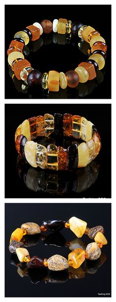 3 Amber Bracelets from www.ambersos.com - your ideal gift for Mum or Grandmother this Mothers Day.