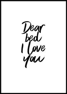 Dear bed Poster in der Gruppe Poster / Größen und Formate / 30x40cm bei Desenio AB (2058)