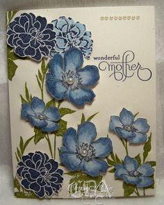 "#stampin'up! #""Fabulous Florets"" by Chris Austin. For My handmade greeting cards visit me at My Personal blog: http://stampingwithbibiana.blogspot.com/"
