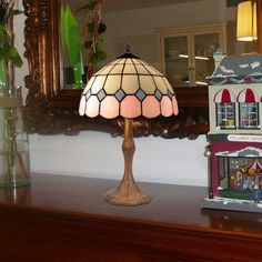 Lámpara de mesa Pink cristal Tiffany