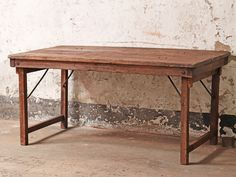 Vintage Long Wooden Table at Scaramanga Vintage Long Wooden Country Farmhouse Table Farmhouse Style Dining Table, Dining Table Sizes, Pine Dining Table, Farmhouse Style Kitchen, Country Farmhouse, Table Vintage, Vintage Kitchen, Living Room Seating, Living Rooms