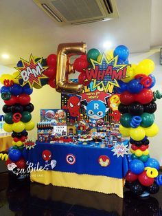 Amazing superhero birthday party! See more party ideas at http://CatchMyParty.com!
