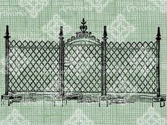 Digital Download Iron Gate with Fence digi by britishislesartworks, $2.49