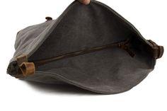 Image of Waxed Canvas Messenger Bag Crossbody Bag Shoulder Bag Satchel Bag 6631