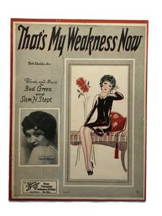 That's My Weakness Now Words and Music By Bud Green And Sam H. Stept 1928 Betty Boop by LighthouseAntiquesTX on Etsy