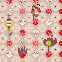 vente l de papier peint enfant fleurettes par emilie lapeyre - Papier Peint Fille