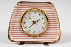 vintage Mauthe alarm clock by H is for Home Love Vintage, Vintage Stil, Vintage Pink, Vintage Antiques, Vintage Jars, Radios, Vintage Alarm Clocks, Old Clocks, Retro Clock