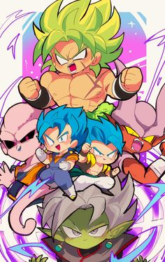 Broly, Gogeta, Majin Buu, Janemba, Veggeto. Dragon Ball Z, Son Goku, Anime Art, Manga Anime, Anime Chibi, Animes Manga, Spiderman, Broly Movie, Gamers Anime