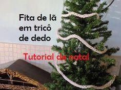 Fita para árvore em tricô de dedo - Tutorial de natal