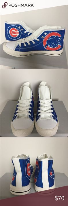 Men's Chicago Cubs High Tops My Luxx Art Chicago Cubs High Tops.  US Men's 8/Women's 9, EU 40.  Brand new never worn.  Comes f rom a pet and smoke free home.  LET'S GO CUBS!!! My Luxx Art Shoes Athletic Shoes
