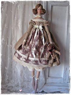 Tilda doll with Teddy bear