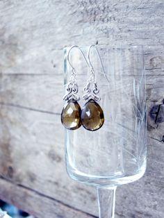 Honey brown earrngs Drop dangle earrings Chandelier by LenaMer