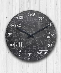 Mathematics Clock Wall - Home Decor