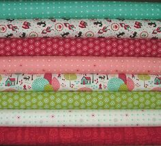 Lil' Red Fat Quarter Bundle of 8 by Stacy by SistersandQuilters