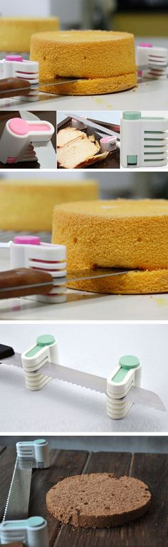 Adjustable 5 level cake and bread slicer // for perfect layer cakes! #product_design #baking