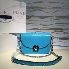 2016 Cheap Prada Arcade Snakeskin Leather Shoulder Bag 1BD030 in Blue