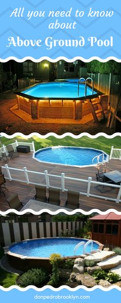 In this article, we are going to discuss about above ground pool. We begin from the history, the benefits, and we will also give some tips on building a deck for above ground pool, and of course some above ground pool ideas.