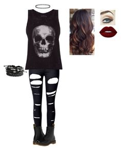 """""""Untitled #30"""" by giacozz ❤ liked on Polyvore featuring WithChic, ElevenParis, Dr. Martens and Lime Crime"""