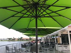 Lunch anyone? Green umbrellas and blue skies at Don Chepo's Taco Shop. Commercial Umbrellas, Outdoor Umbrellas, Taco Shop, Garden Parasols, Outdoor Living, Outdoor Decor, Blue Skies, Crafts For Kids, Design Inspiration