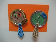father day craft images kids | Although I used the fun little ties from Michael's for these magnets ...