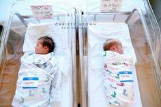 twins, twin newborns, hospital photo shoot, utah photographer